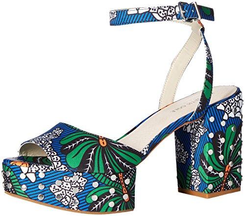 (Kenneth Cole New York Women's Pheonix Stud Platform Dress Sandal Heeled, Blue/Multi, 8.5 M US)