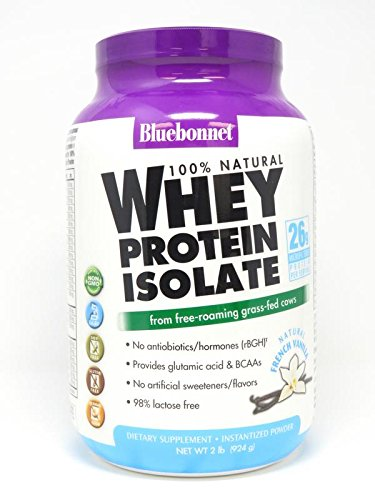 Bluebonnet Nutrition 100% Natural Whey Protein Isolate Powde
