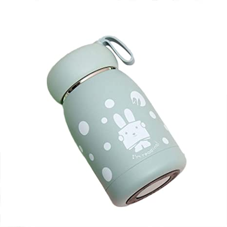 Botella pequeña de acero inoxidable aislada, botella de agua ...