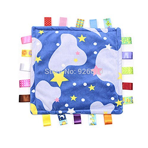 Little Taggies Colors-Style Super Soft Lovey Security Blanket, Clouds and Stars for $<!--$14.97-->