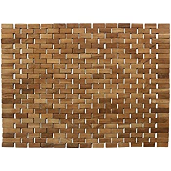 Amazon Com Luxurious Bamboo Bath Mat For Shower Bath