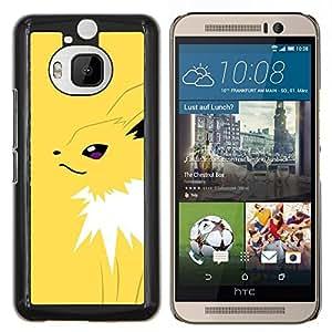 EJOOY---Cubierta de la caja de protección para la piel dura ** HTC One M9Plus M9+ M9 Plus ** --Yellow Monster empuje