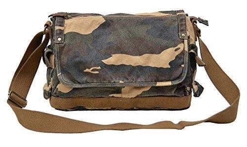 Gootium Canvas Messenger Bag - Vintage Cross Body Shoulder Satchel, Camouflage Camouflage Canvas Shoulder Bag