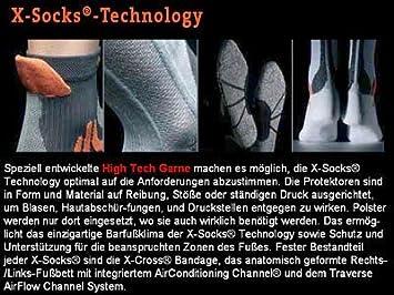 X-Socks calcetines de Trekking Evolution, negro/azul, 45/47, X020317: Amazon.es: Deportes y aire libre