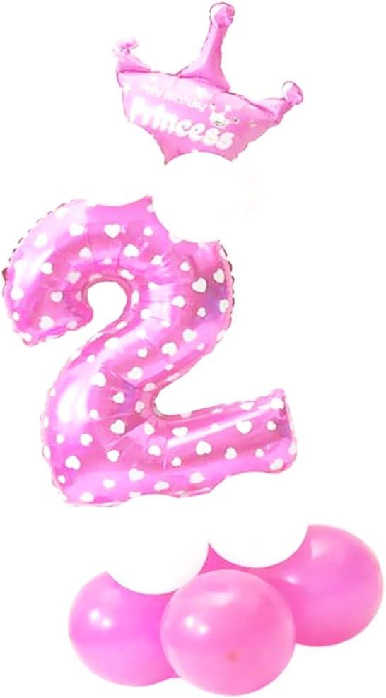 JinSu 2 Anni Compleanno Decorazioni per Ragazzo Bbambini Blu 13 Pezzi Decorazioni Compleanno con Palloncino di Corona e Palloncini in Lattice per Decorazioni Compleanno