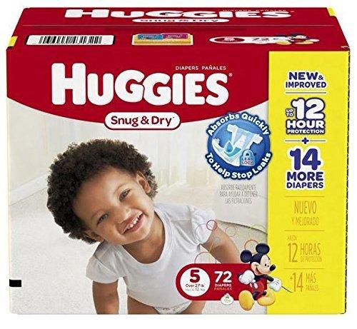 Huggies Snug & Dry Diapers Size 5 - 72 CT