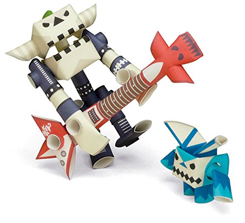 an Paper Craft Robot kit from Japan - Rock Star & His Only Fan (Old Package) ()