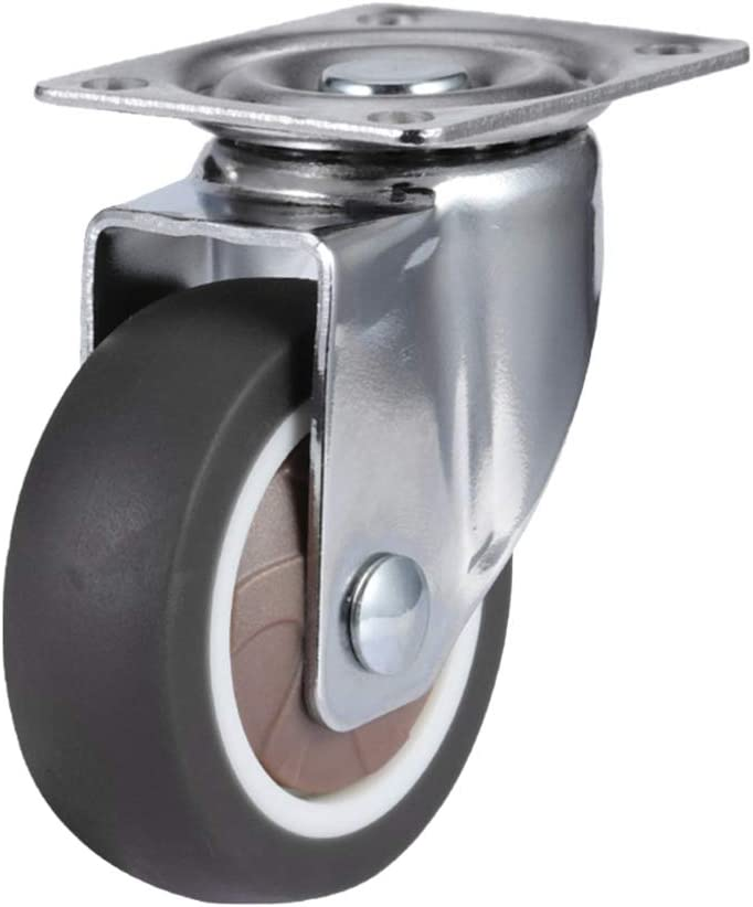 Garneck 4PCS 1 Inch Swivel Plate Caster Silent Caster Heavy Duty Locking Casters Wheels for Furniture Cabinet Chair