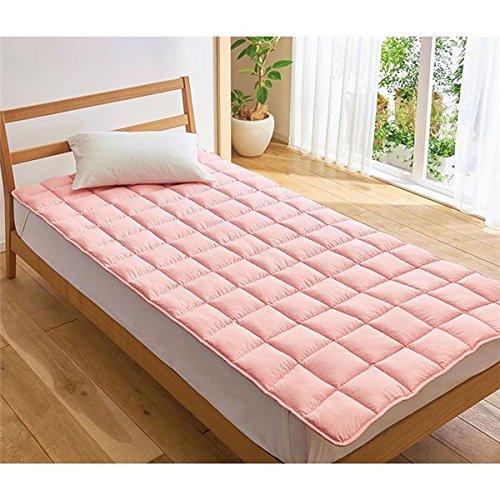 寝具関連 おしゃれ 敷きパッド/寝具 【ピンク ダブル】 140cm×200cm ポリエステル100% 寝室 ベッドルーム B07RMDC4PN