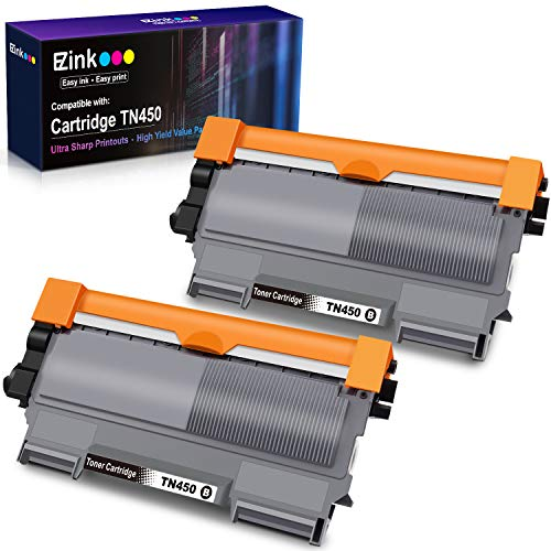 E-Z Ink (TM) Compatible Toner Cartridge Replacement for Brother TN450 TN420 TN-450 TN-420 to use with HL-2270DW HL-2280DW HL-2230 HL-2240 MFC-7360N MFC-7860DW DCP-7065DN Intellifax 2840 2940 (2 Black)