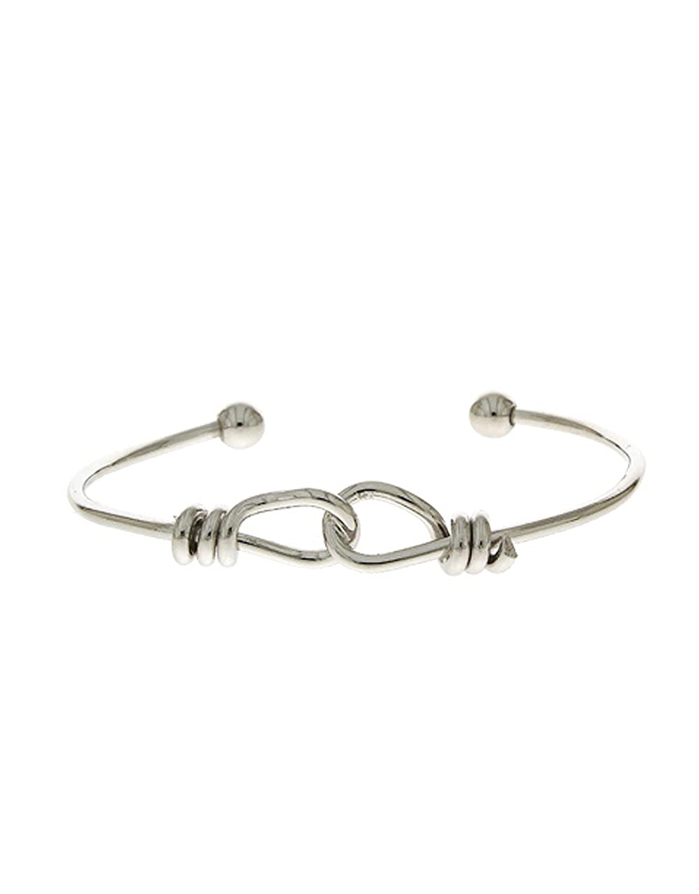 Anuradha Art Silver Finish Simple /& Stylish Beautiful Hand Bracelet//Kada for Women//Girls