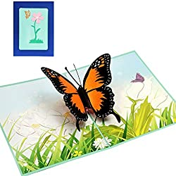 Bingo Point Butterfly Greeting Cards Handmade Birthday Wedding Invitation Letter Christmas Thanksgiving Seasons Greeting 3D Pop Up Card New