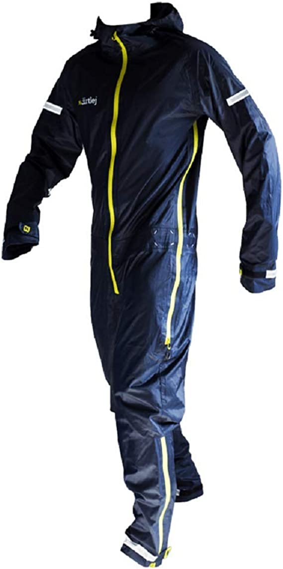 Dirtlej Commutesuit Road Edition Navy Lime Rain Suit For Cyclists Bekleidung