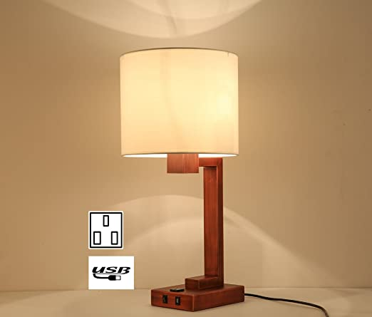 Lobolovelife Lbt44 2 Hotel Tabel Lamp With Power Outlet And Usb