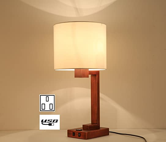 Lobolovelife LBT44 2 Hotel Tabel Lamp With Power Outlet And Usb Ports Hotel  Desk Lamp