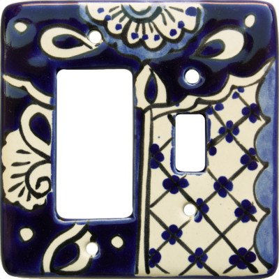 Fine Crafts Imports Traditional Talavera Toggle-GFI Switch Plate