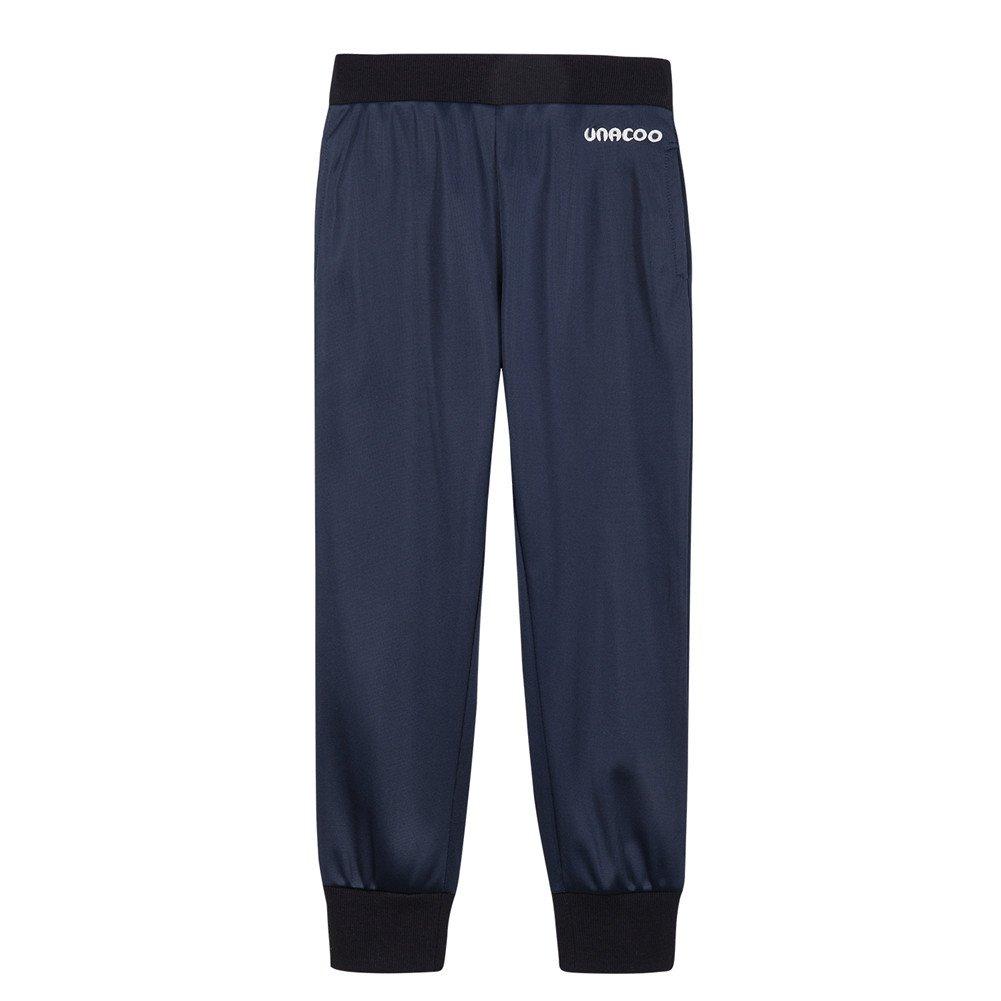 UNACOO Boys Active Basic Jogger Breathable Fleece Lined Pants (Navy, XL(11-12T))