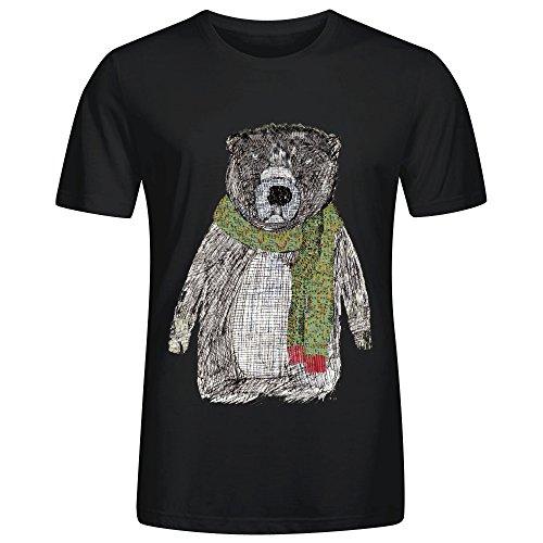 Bear Nw1 Men's Crew Neck T-shirts Black