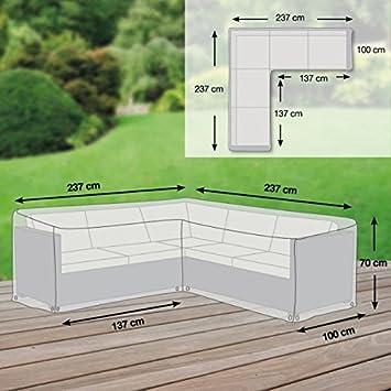 Amazon.de: Gartenmöbel Abdeckung / Schutzhülle L-Form - Premium Plus ...