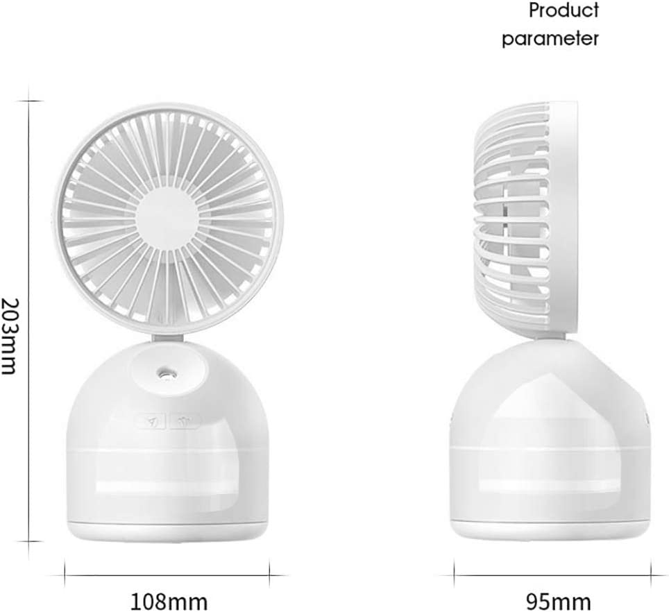 Cooling Humidifier Fan Air Cooler Desktop Table Quiet Lightweight with 3 Settings Water Spray Fan Portable USB Misting Fan b