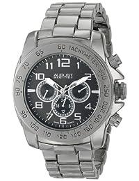 August Steiner Men's AS8095BK Analog Display Swiss Quartz Black Watch