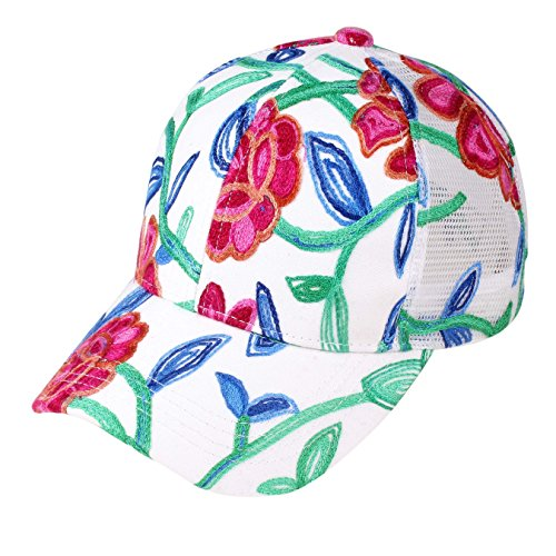 Embroidered Print Hat - 3