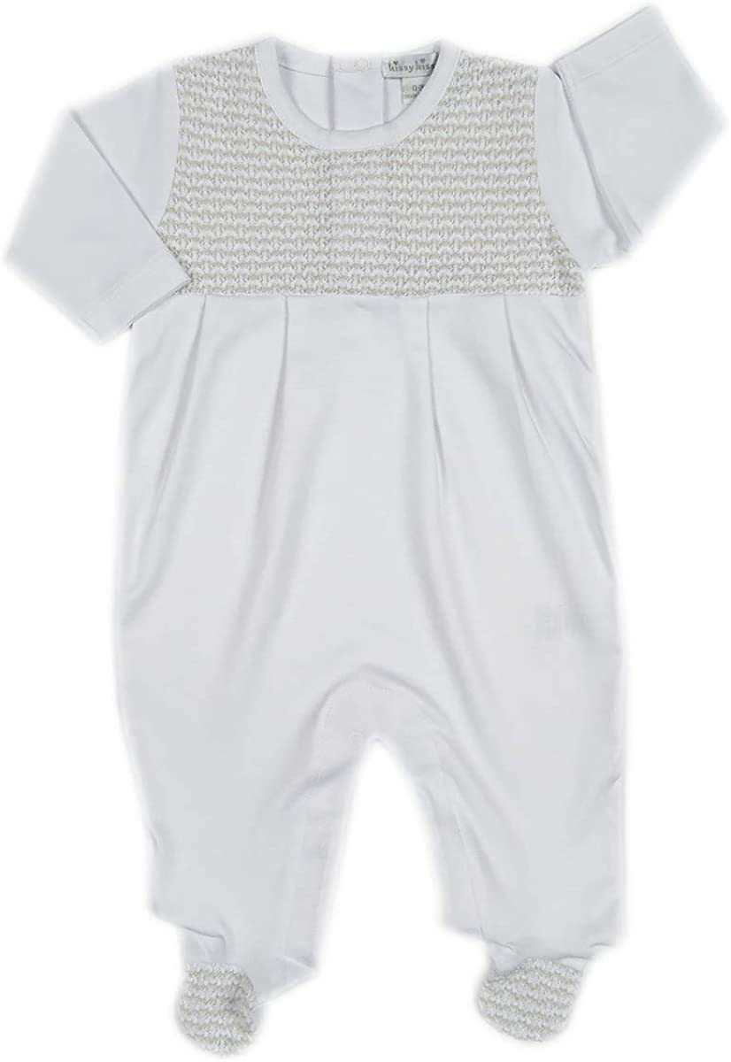 Kissy Kissy Unisex Baby Tranquility Footie with Silver-6-9mos