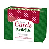 """American Crafts A2 Cards W/Envelopes (4.375""""X5.75"""") 40/Box-North Pole"""