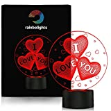 I LOVE YOU 3D AMAZING Illusion Light 7 COLOR By rainbolights A Great ANNIVERSARY GIFT Idea or a UNIQUE Way To Say I LOVE YOU to your GIRLFRIEND