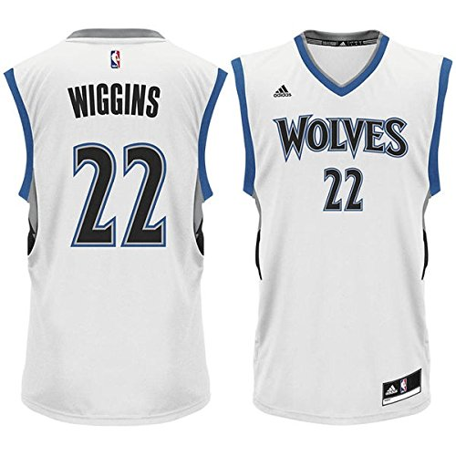 adidas Andrew Wiggins Minnesota Timberwolves #22 NBA Youth Home Jersey (Youth Small 8)