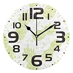 HULKBIDBN Kitchen Clock Big Pineapple Yellow Decorative Wall Clock Non-Ticking Silent Outdoor Patio Clock for Home