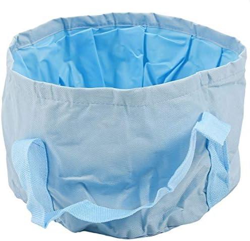 Fssh-mlx キャンプ15Lバケツ屋外洗面防水トラベルポータブル折りたたみバケツ折りたたみバケツ水バケツライトブルー (色 : Blue)