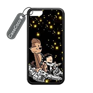 Calvin And Hobbes Star Wars Custom Hard Plastic & Rubber Case for iPhone 5c - iphone 5c Case Cover