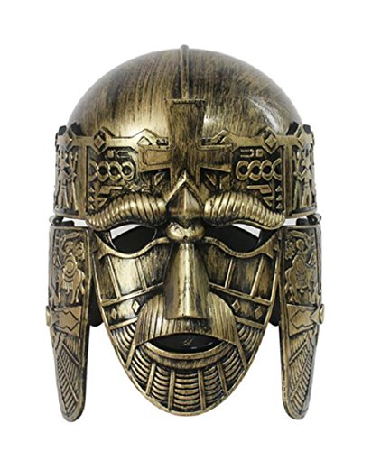 Roman Army Costumes (Nicky Bigs Novelties Anglo Saxon Antiqued Bronze Roman Gladiator Costume Helmet)