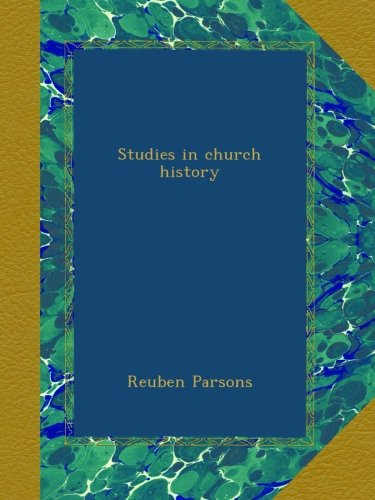 Download Studies in church history pdf