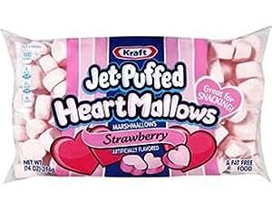 Kraft Jet-puffed Heartmallows Strawberry Flavored Marshmallows 8 Oz Package
