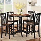 Andover 5 Piece Counter Height Dining Set Review