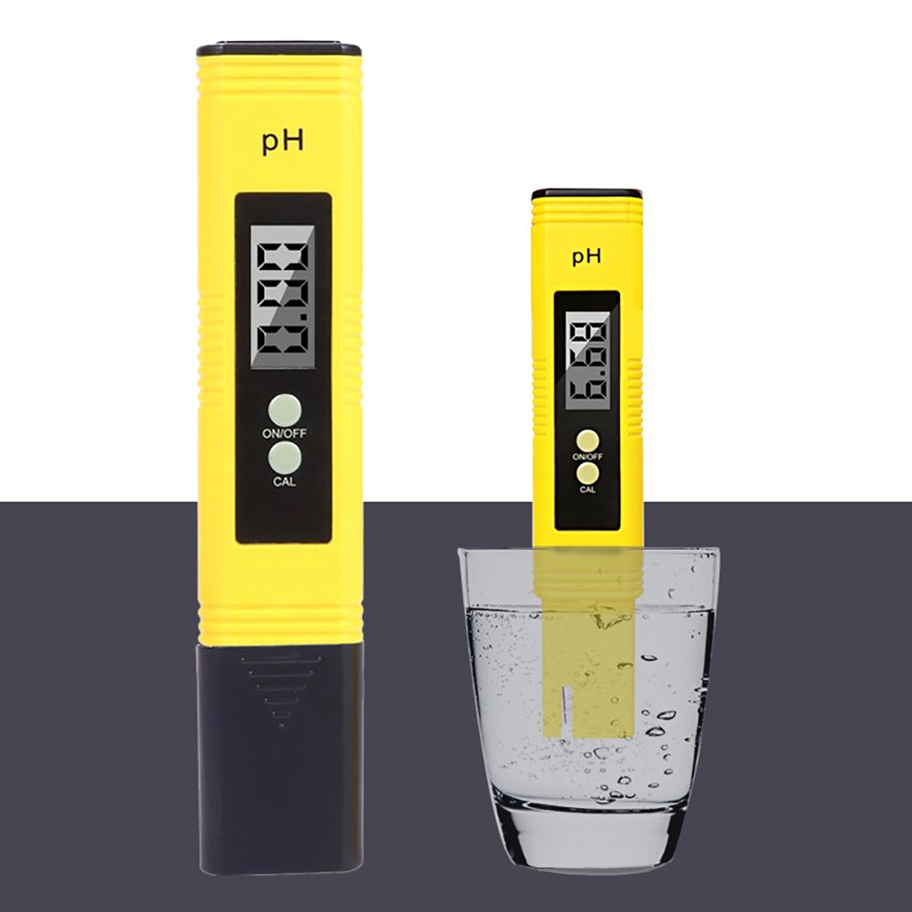 Ph Meter Digital PH Tester Kit 0.01 PH Resolution Water Quality Tester with Automatic Calibration 0-14 PH Measurement Range Pocket Size Tool for Testing Alkalinity of Drinking Pool and Aquarium Water
