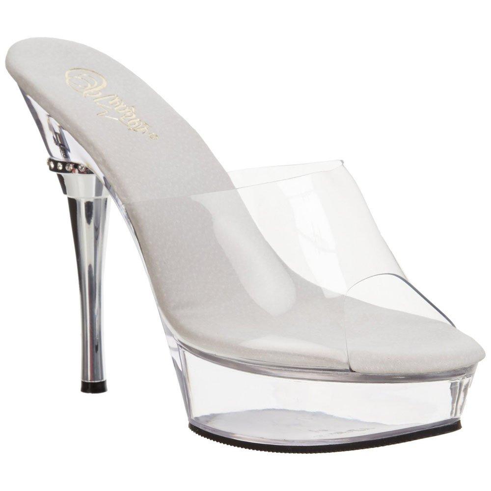 Pleaser Allure-601 - Zapatos de Plataforma Mujer 39 EU|Transparentes