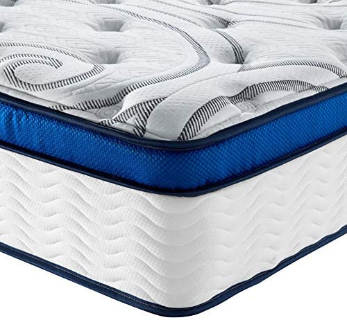 Vibe Quilted Gel Memory Foam and Innerspring Hybrid Pillow Top 12-Inch Mattress / CertiPUR-US Certified / Bed-in-a-Box, Queen