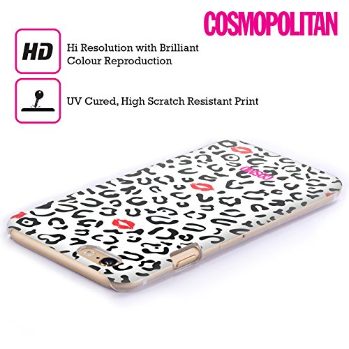 Official Cosmopolitan Black And White Sassy Leopard Hard Back Case for Apple iPhone 6 / 6s