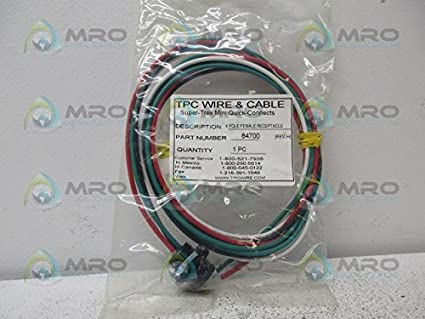 TPC Wire & Cable 84700 Quick-Connect Receptacle, 4P, 600V ...
