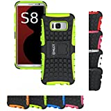 Galaxy S8 Case, HLCT Rugged Shock Proof Dual-Layer PC and Soft Silicone Case With Built-In Kickstand for Samsung Galaxy S8 (2017) (Green)