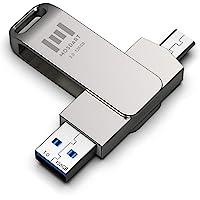 128 GB USBC Durable Flash Drive 2 in 1 OTG USB C to USB A 3.0 Dual Thumb Drive Waterproof 128GB Type c Memory Stick…