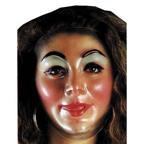 Girl Face Mask Halloween (PLASTIC YOUNG FEMALE TRAN)