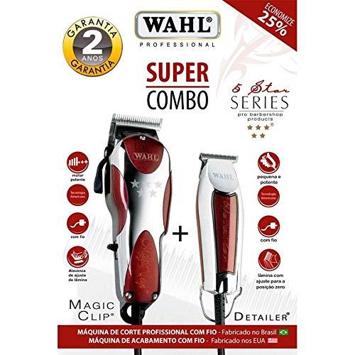 e381e0890 Wahl Super Combo Magic Clip 127V + Detailer Bivolt: Amazon.com.br: Teruya  Perfumaria