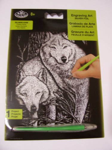 Royal & Langnickel Engraving Art Silver Foil ~ Wolves on the Prowl by Royal & Langnickel