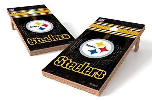 Wild Sports NFL Pittsburgh Steelers 2' x 4' Authentic Cornhole Game Set