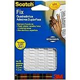 Quadradinhos Dupla-Face Fix, Scotch, H0002187138, Transparente
