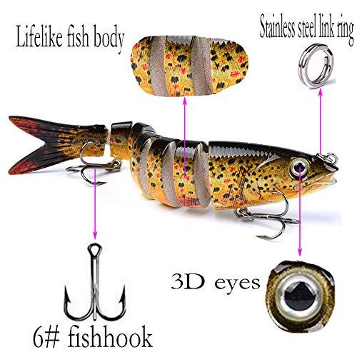 Eyes 3D Eyes Plastic Hard Crank Fishing Lure Bionic Bait Minnow Wobbler